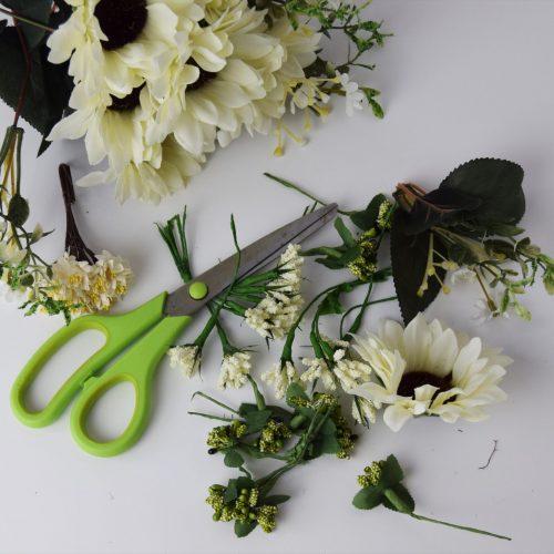 preparing flowers