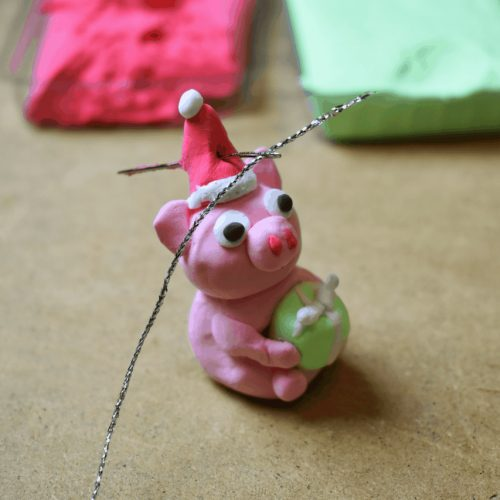 clay holiday piggy